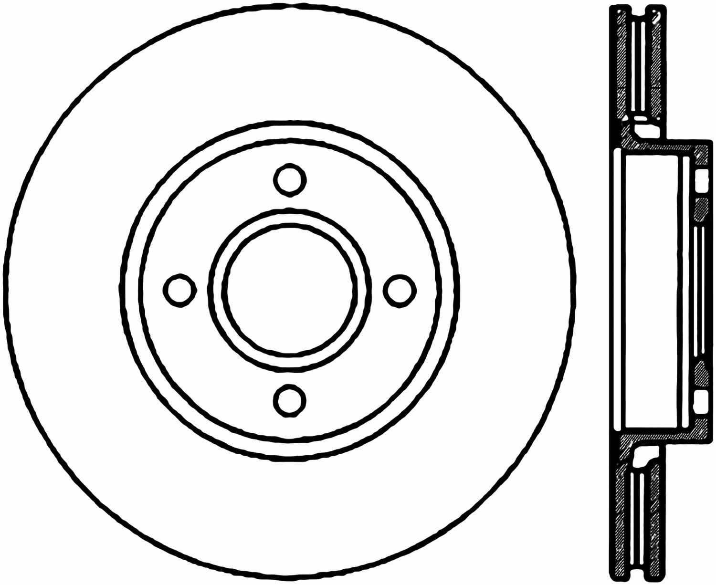C-TEK BY CENTRIC - C-TEK Standard Disc Brake Rotor-Preferred (Front) - CTK 121.61056