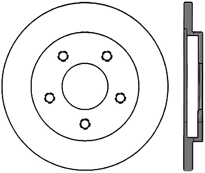 C-TEK BY CENTRIC - C-TEK Standard Disc Brake Rotor-Preferred - CTK 121.62029
