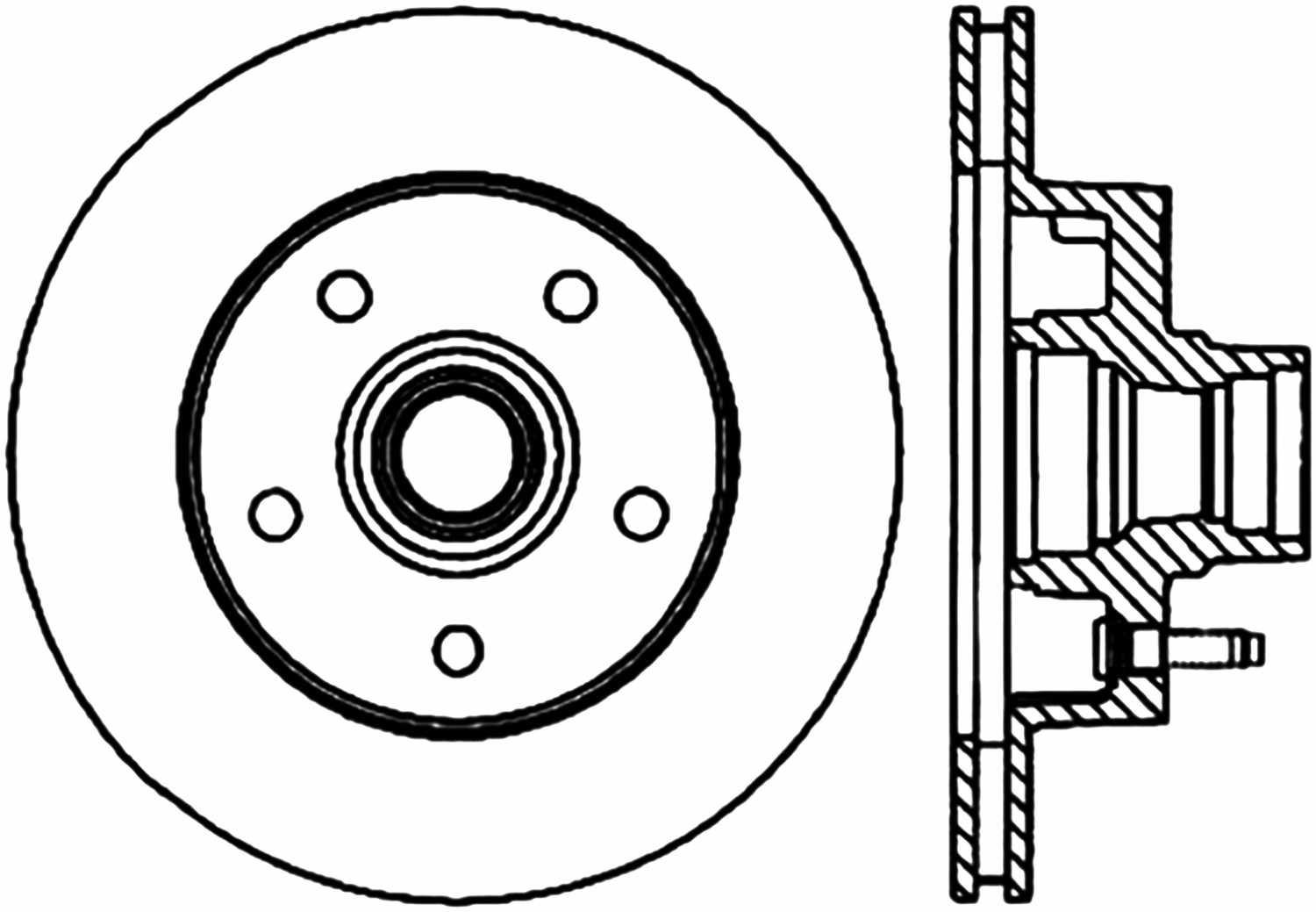 C-TEK BY CENTRIC - C-TEK Standard Disc Brake Rotor-Preferred (Front) - CTK 121.65036
