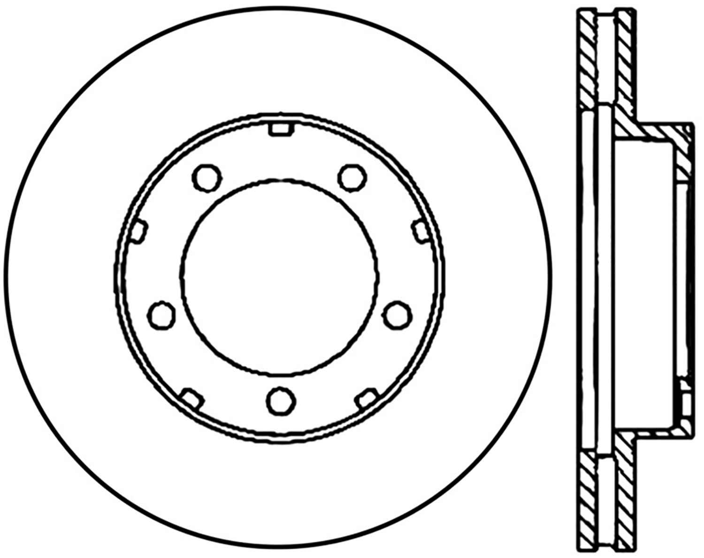 C-TEK BY CENTRIC - C-TEK Standard Disc Brake Rotor (Front) - CTK 121.66031