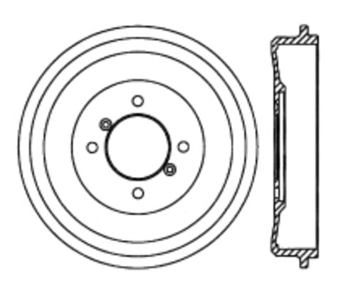 C-TEK BY CENTRIC - C-TEK Standard Brake Drum-Preferred - CTK 123.25001