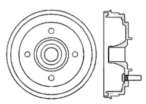C-TEK BY CENTRIC - C-TEK Standard Brake Drum-Preferred (Rear) - CTK 123.47007