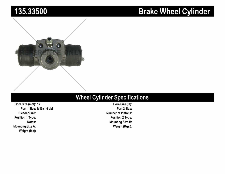 C-TEK BY CENTRIC - C-TEK Standard Wheel Cylinder (Rear) - CTK 135.33500