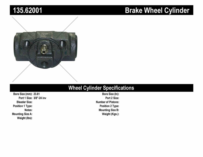 C-TEK BY CENTRIC - C-TEK Standard Wheel Cylinder - CTK 135.62001