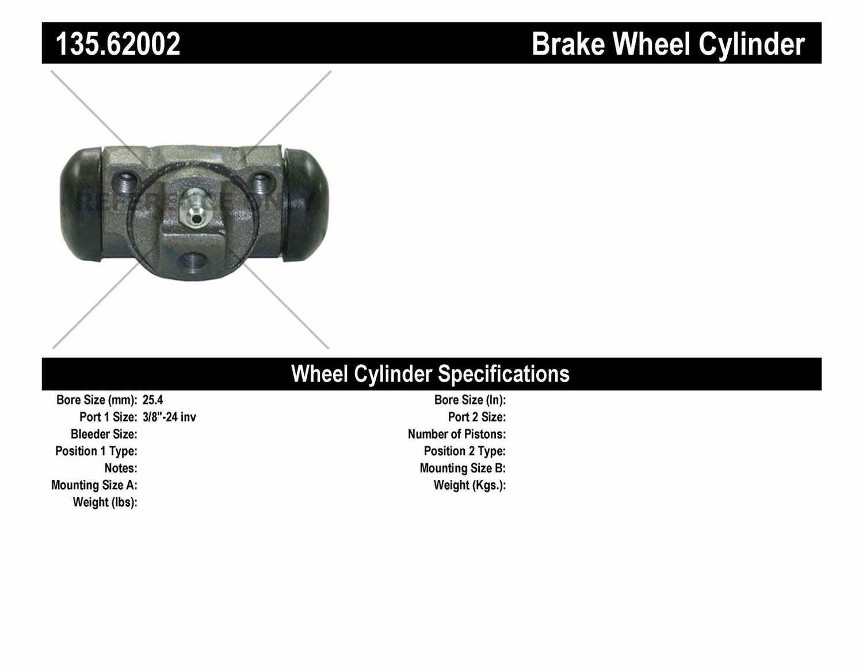 C-TEK BY CENTRIC - C-TEK Standard Wheel Cylinder (Rear) - CTK 135.62002