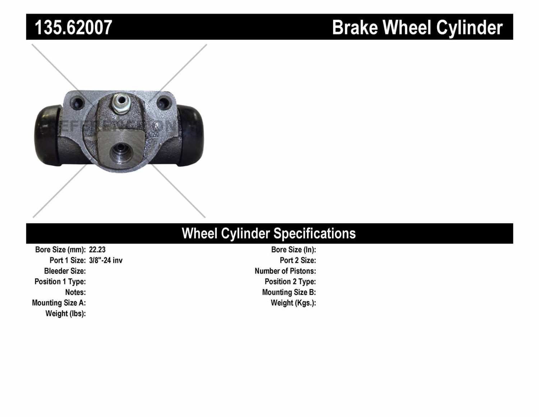 C-TEK BY CENTRIC - C-TEK Standard Wheel Cylinder - CTK 135.62007