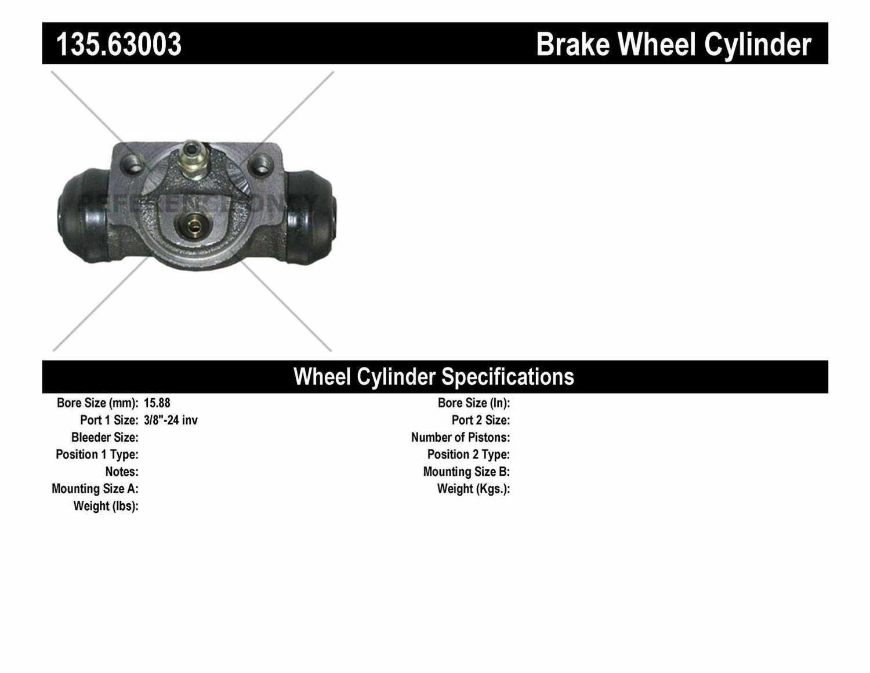 C-TEK BY CENTRIC - C-TEK Standard Wheel Cylinder (Rear) - CTK 135.63003
