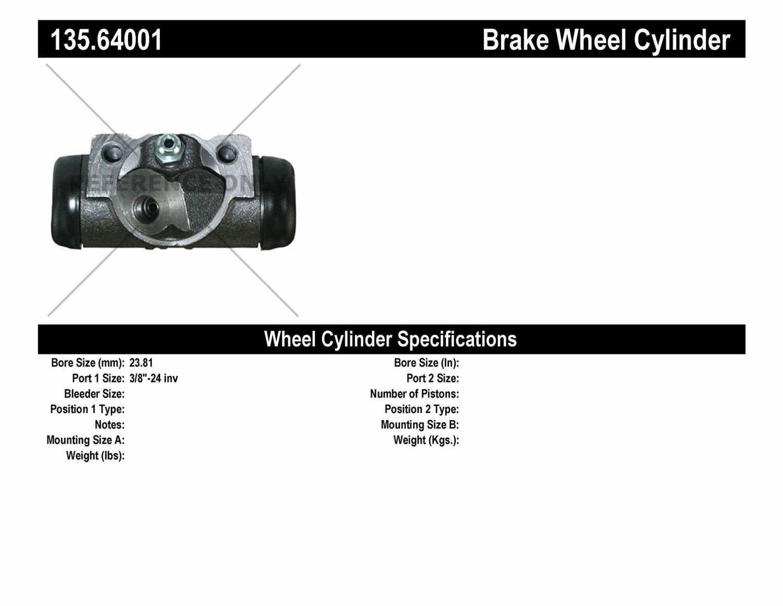 C-TEK BY CENTRIC - C-TEK Standard Wheel Cylinder - CTK 135.64001