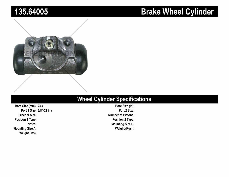 C-TEK BY CENTRIC - C-TEK Standard Wheel Cylinder - CTK 135.64005