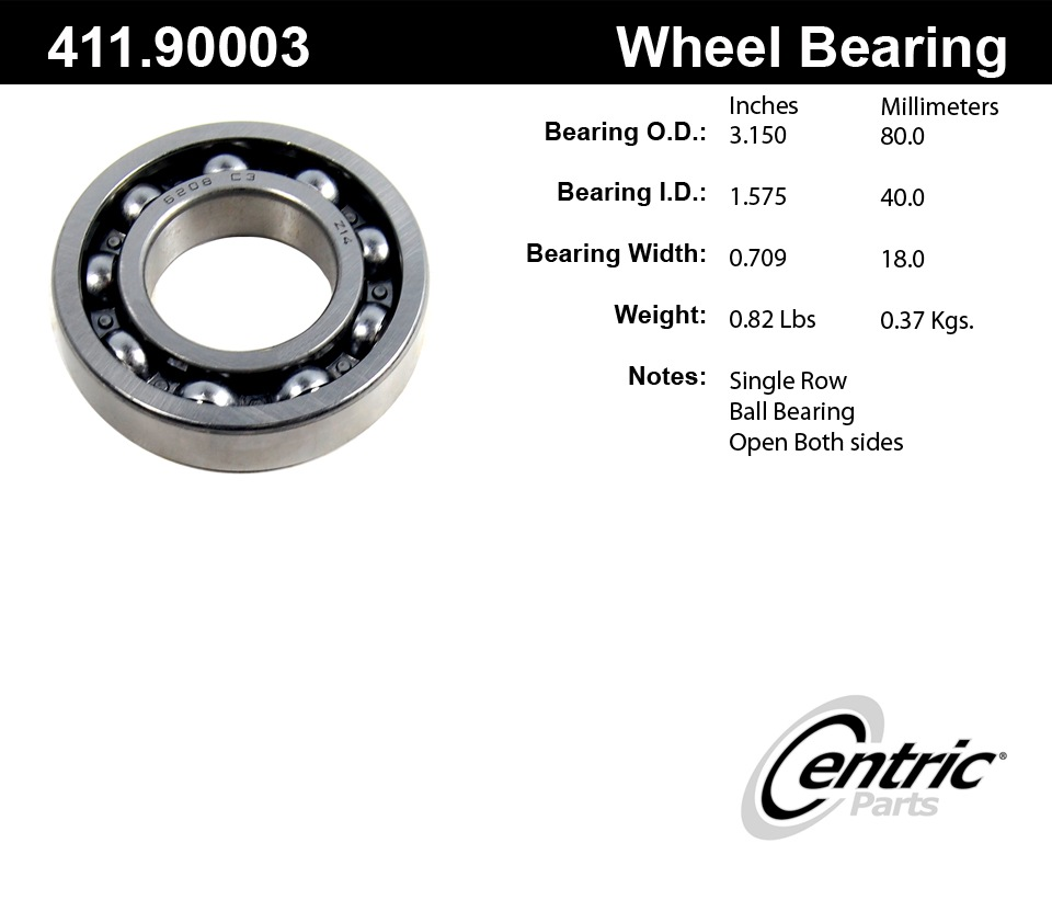 C-TEK BY CENTRIC - C-TEK Standard Bearings - CTK 411.90003E
