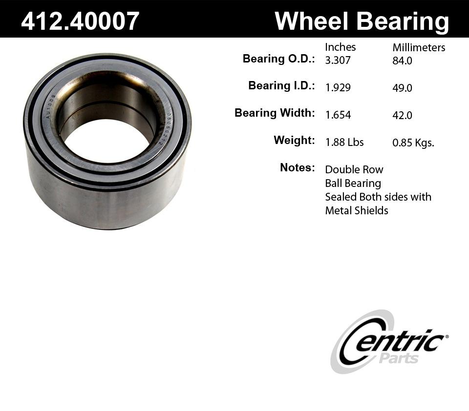 C-TEK BY CENTRIC - Standard Axle Shaft Bearing - CTK 412.40007E