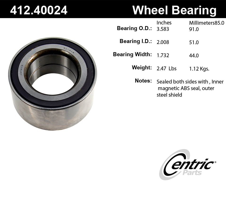 C-TEK BY CENTRIC - Standard Axle Shaft Bearing - CTK 412.40024E