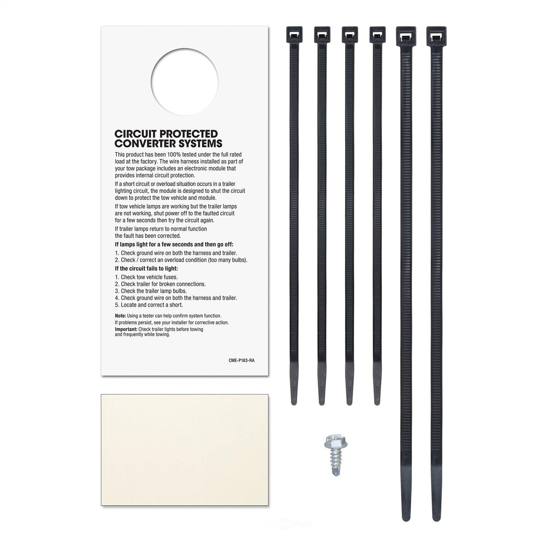 Curt Mfg Inc Trailer Connector Kit Part Number 55336 Wiring Custom Cur