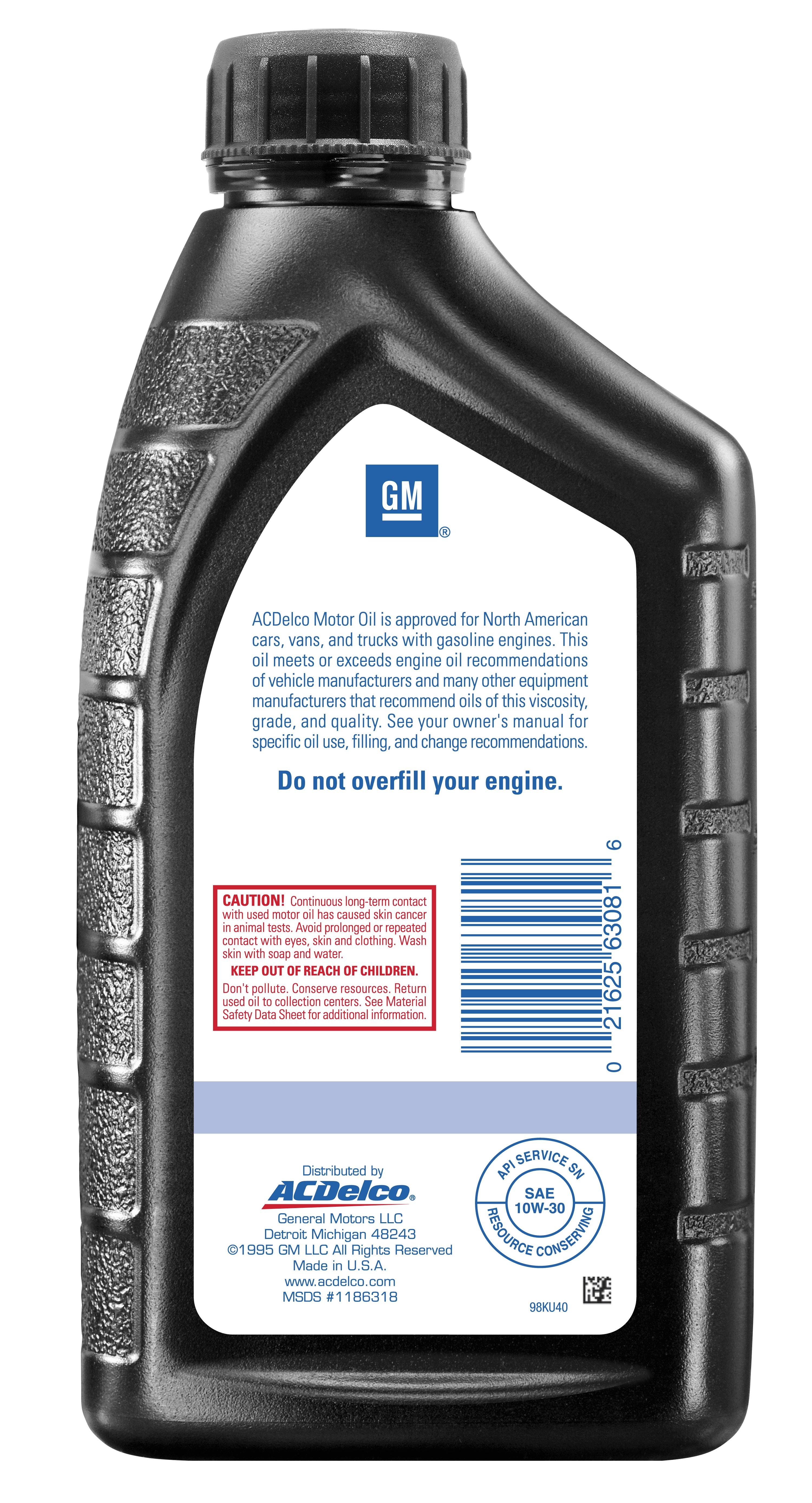 ACDELCO GM ORIGINAL EQUIPMENT - Engine Oil - DCB 10-9062