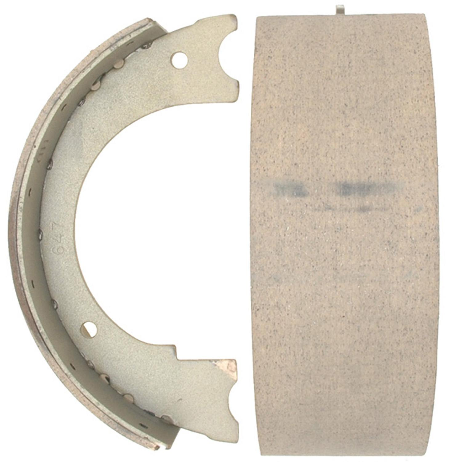 ACDELCO ADVANTAGE - Bonded Parking Brake Shoe - DCD 14647B