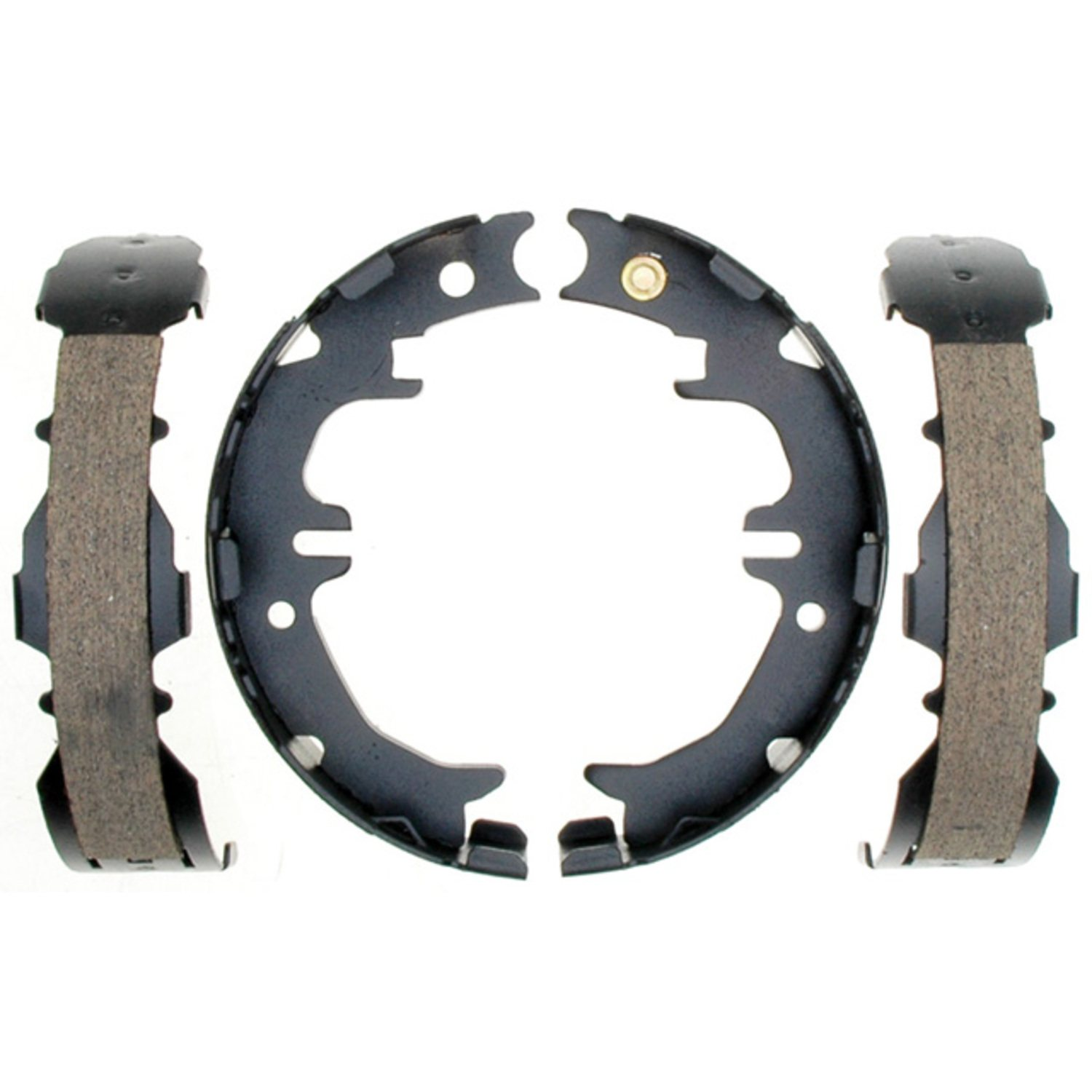 ACDELCO SILVER/ADVANTAGE - Bonded Parking Brake Shoe (Rear) - DCD 14846B