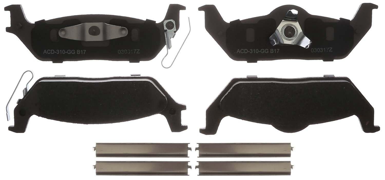 ACDELCO SILVER/ADVANTAGE - Ceramic Disc Brake Pad - DCD 14D1012CHF1