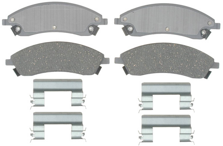 ACDELCO SILVER/ADVANTAGE - Ceramic Disc Brake Pad - DCD 14D1019ACH