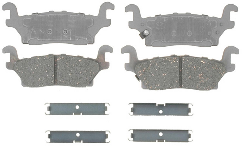 ACDELCO SILVER/ADVANTAGE - Ceramic Disc Brake Pad (Rear) - DCD 14D1120CH