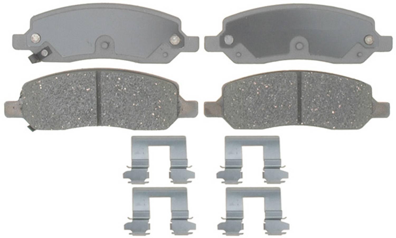 ACDELCO SILVER/ADVANTAGE - Ceramic Disc Brake Pad (Rear) - DCD 14D1172CH