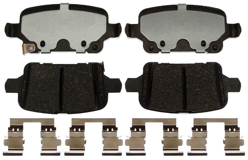 ACDELCO SILVER/ADVANTAGE - Ceramic Disc Brake Pad (Rear) - DCD 14D1857CH
