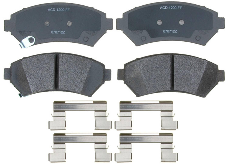 ACDELCO SILVER/ADVANTAGE - Semi-Metallic (Front) - DCD 14D699MH