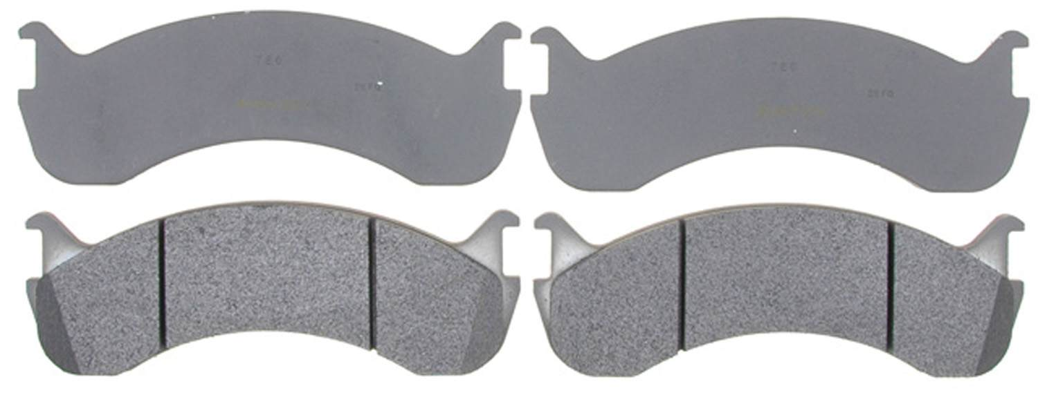 ACDELCO ADVANTAGE - Semi Metallic Disc Brake Pad - DCD 14D786M
