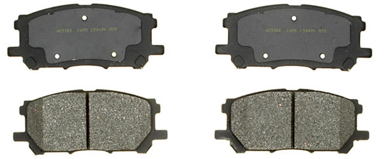 ACDELCO GOLD/PROFESSIONAL BRAKES - Semi-metallic - ADU 17D1005M