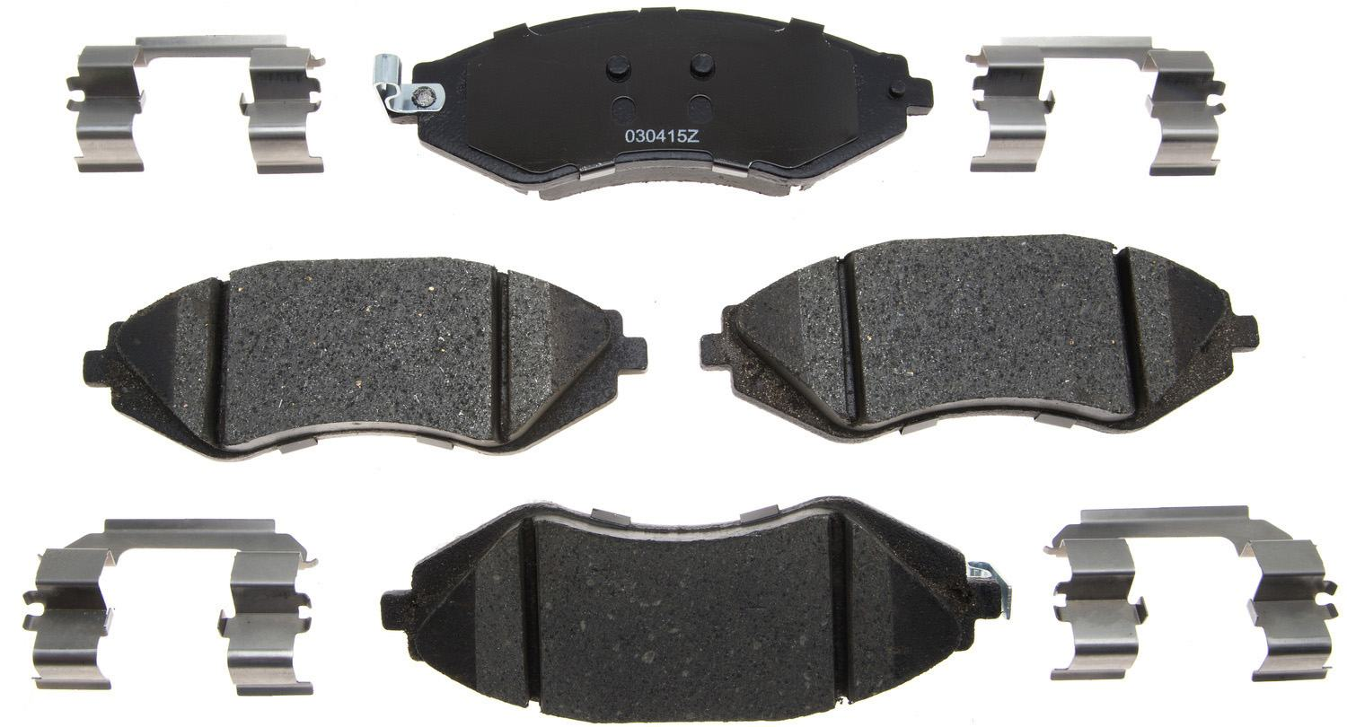 ACDELCO GOLD/PROFESSIONAL BRAKES - Ceramic Disc Brake Pad (Front) - ADU 17D1035CH