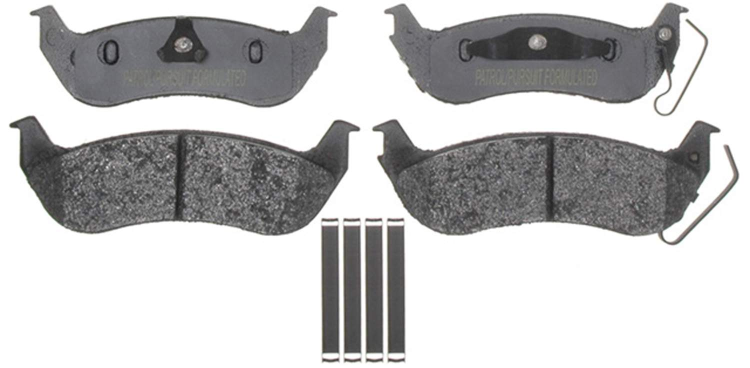 ACDELCO SPECIALTY - Police Semi-Metallic Disc Brake Pad (Rear) - DCE 17D1040AMHPV