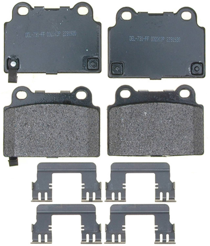 ACDELCO PROFESSIONAL BRAKES - Ceramic Disc Brake Pad - ADU 17D1057ACH