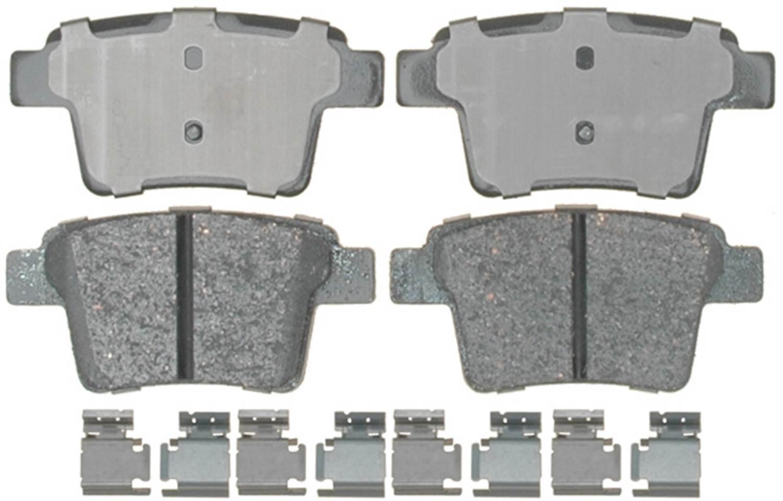 ACDELCO PROFESSIONAL BRAKES - Ceramic Disc Brake Pad (Rear) - ADU 17D1071CH