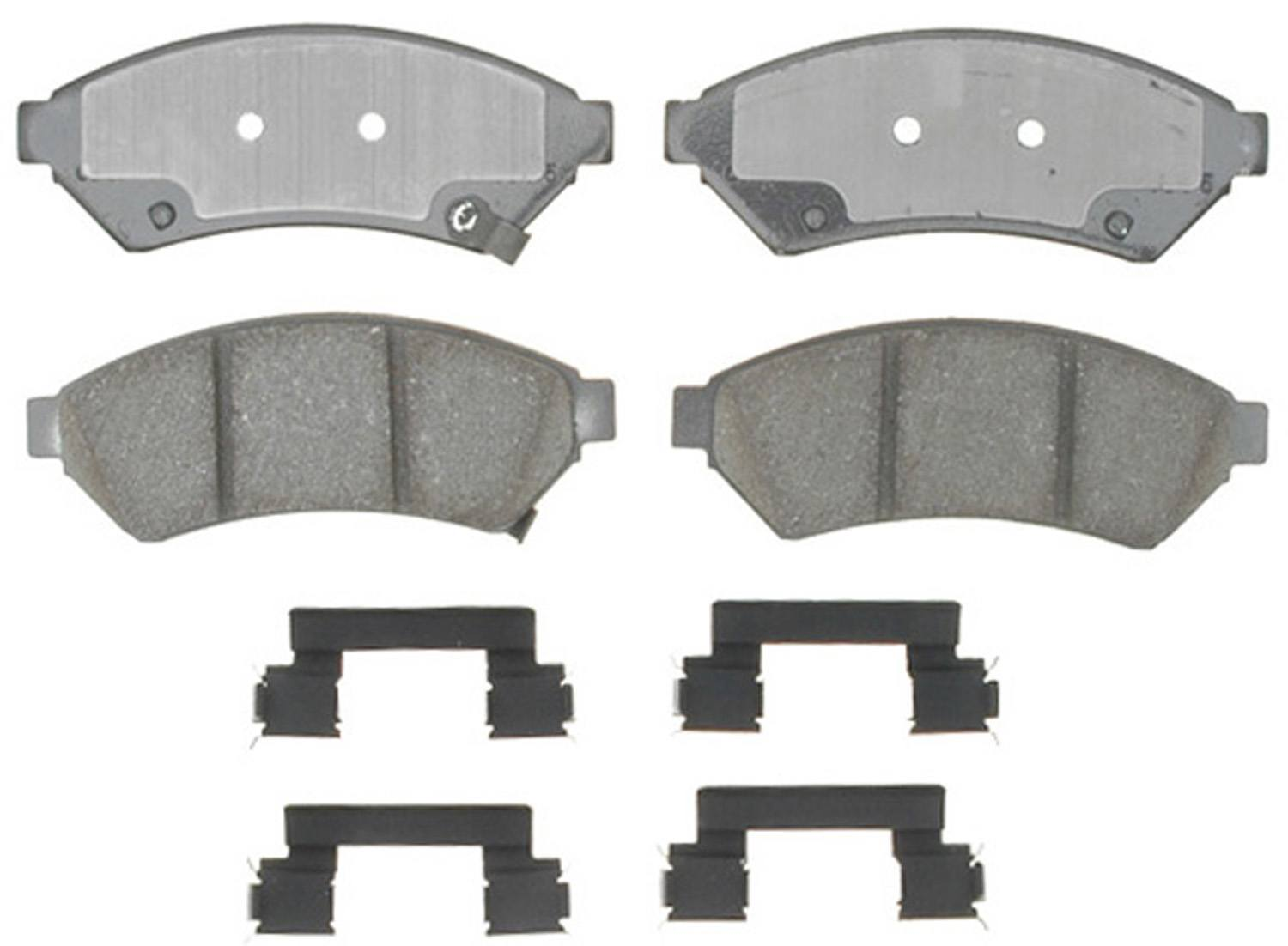 ACDELCO GOLD/PROFESSIONAL BRAKES - Ceramic Disc Brake Pad (Front) - ADU 17D1075CHF1