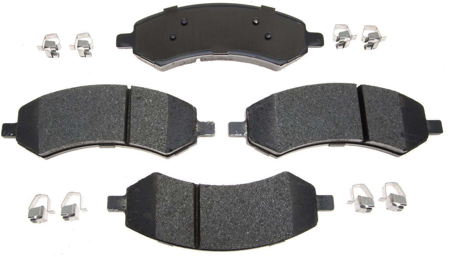 ACDELCO PROFESSIONAL BRAKES - Semi Metallic Disc Brake Pad (Front) - ADU 17D1084MH