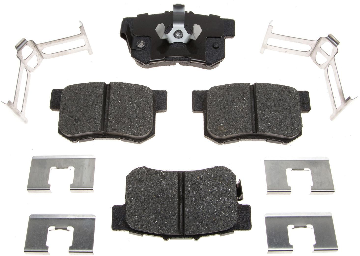 ACDELCO PROFESSIONAL BRAKES - Ceramic Disc Brake Pad (Rear) - ADU 17D1086CH