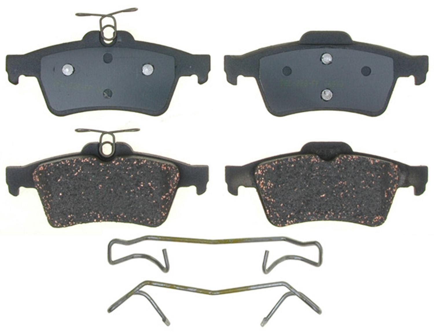 ACDELCO PROFESSIONAL BRAKES - Ceramic Disc Brake Pad (Rear) - ADU 17D1095CH
