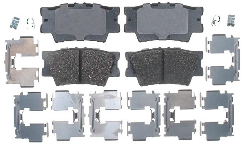 ACDELCO PROFESSIONAL BRAKES - Ceramic Disc Brake Pad (Rear) - ADU 17D1212CH