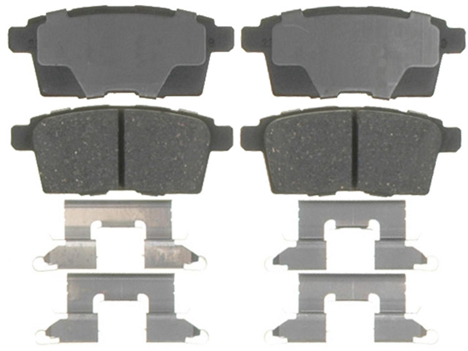 ACDELCO PROFESSIONAL BRAKES - Ceramic Disc Brake Pad (Rear) - ADU 17D1259CH