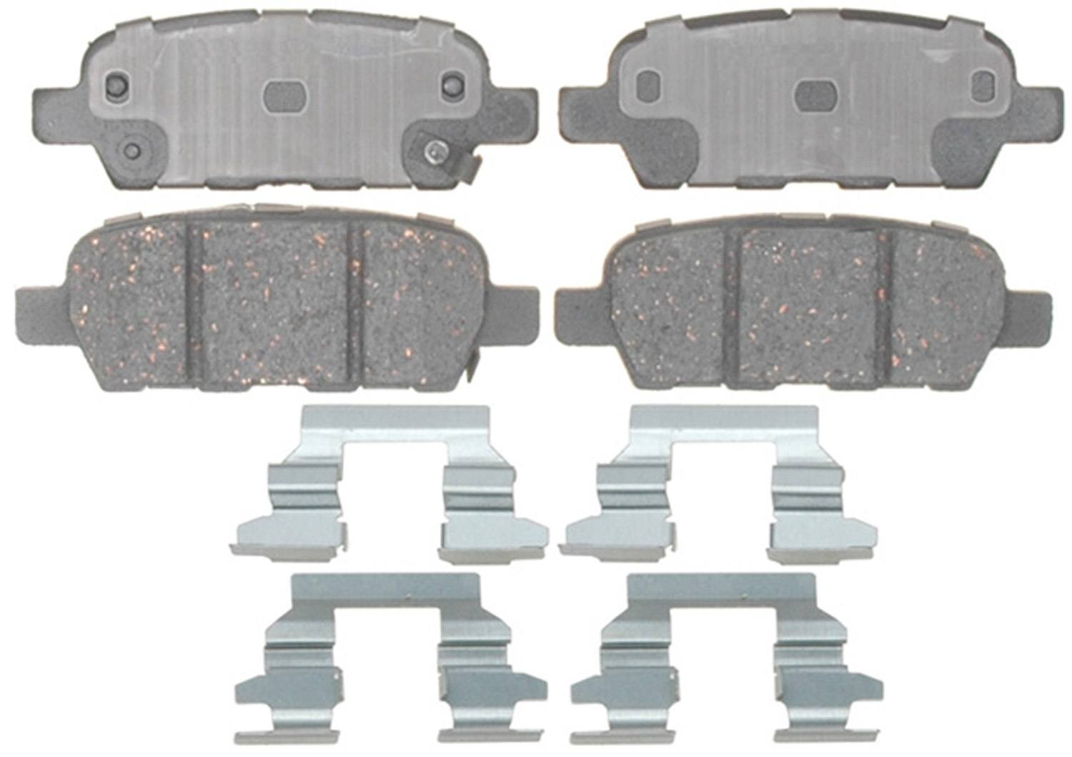 ACDELCO PROFESSIONAL BRAKES - Ceramic Disc Brake Pad (Rear) - ADU 17D1288CH