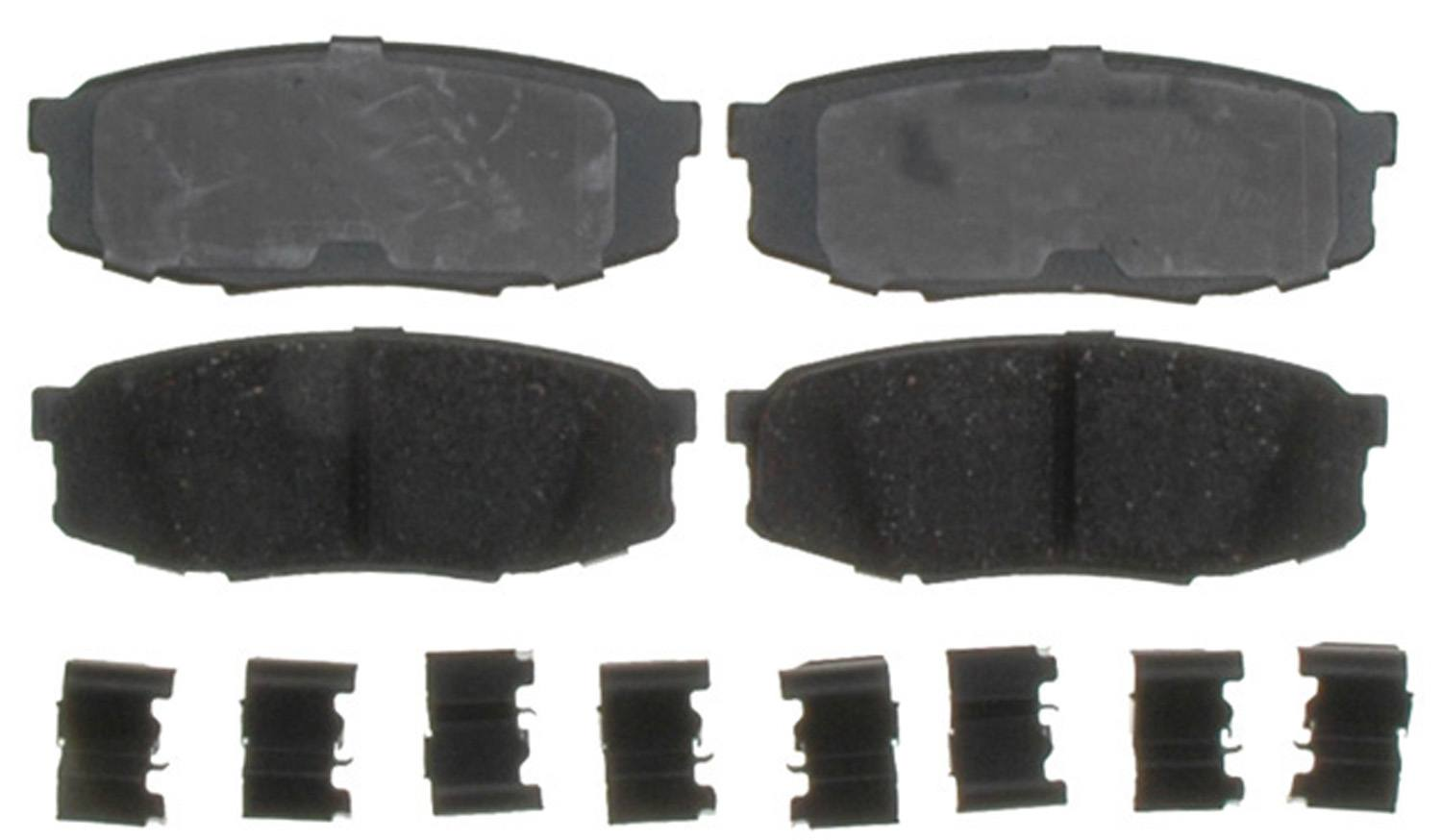 ACDELCO GOLD/PROFESSIONAL BRAKES - Ceramic Disc Brake Pad (Rear) - ADU 17D1304CH