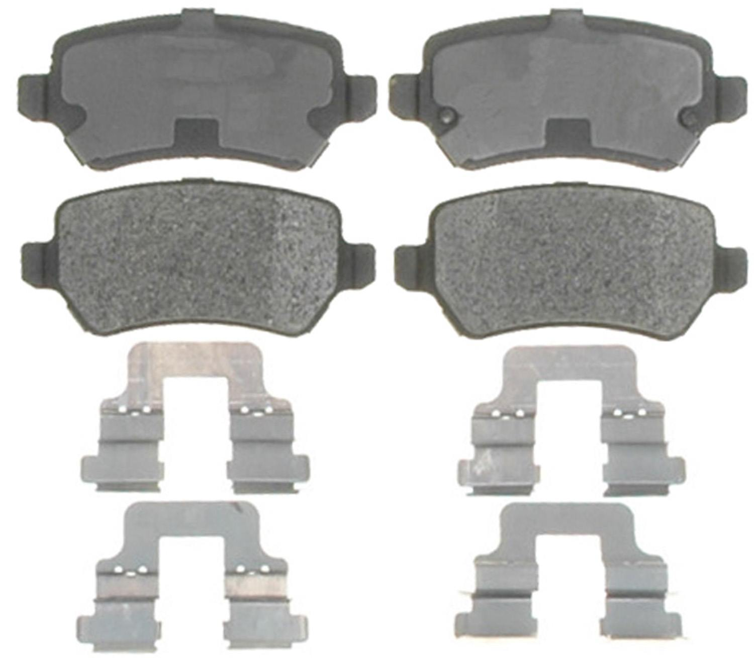 ACDELCO PROFESSIONAL BRAKES - Semi Metallic Disc Brake Pad (Rear) - ADU 17D1362MH