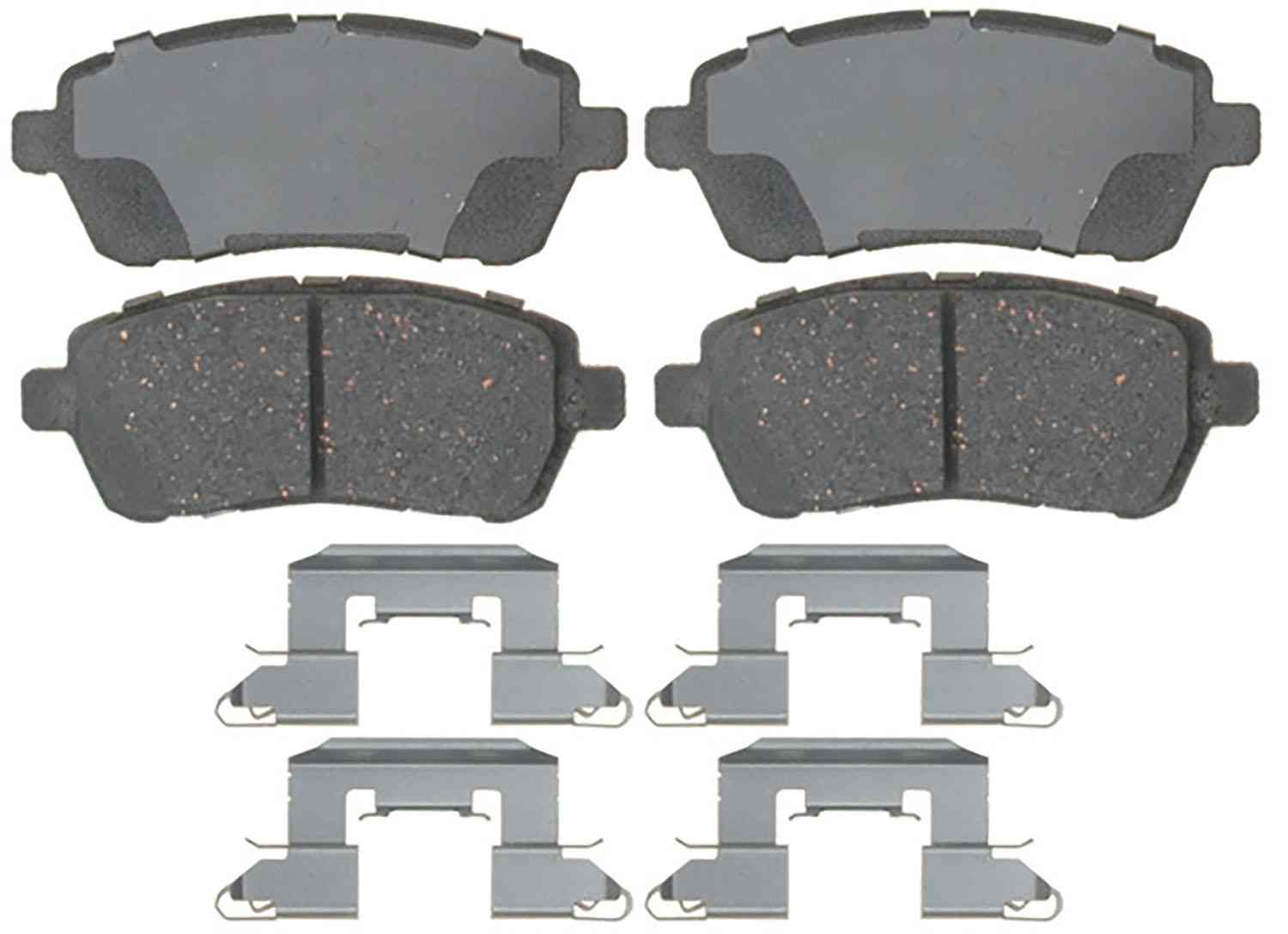ACDELCO PROFESSIONAL BRAKES - Ceramic Disc Brake Pad (Front) - ADU 17D1454CH
