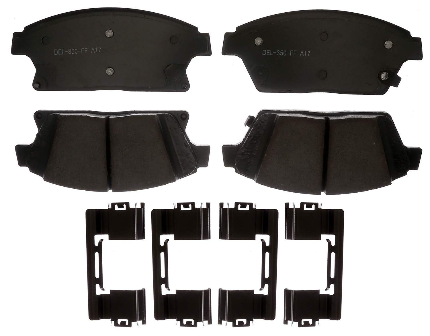 ACDELCO GOLD/PROFESSIONAL BRAKES - Ceramic Disc Brake Pad (Front) - ADU 17D1467CH