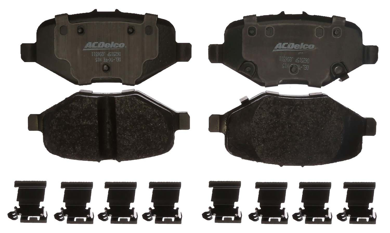 ACDELCO SPECIALTY - Police Semi-Metallic Disc Brake Pad - DCE 17D1612MHPVF1