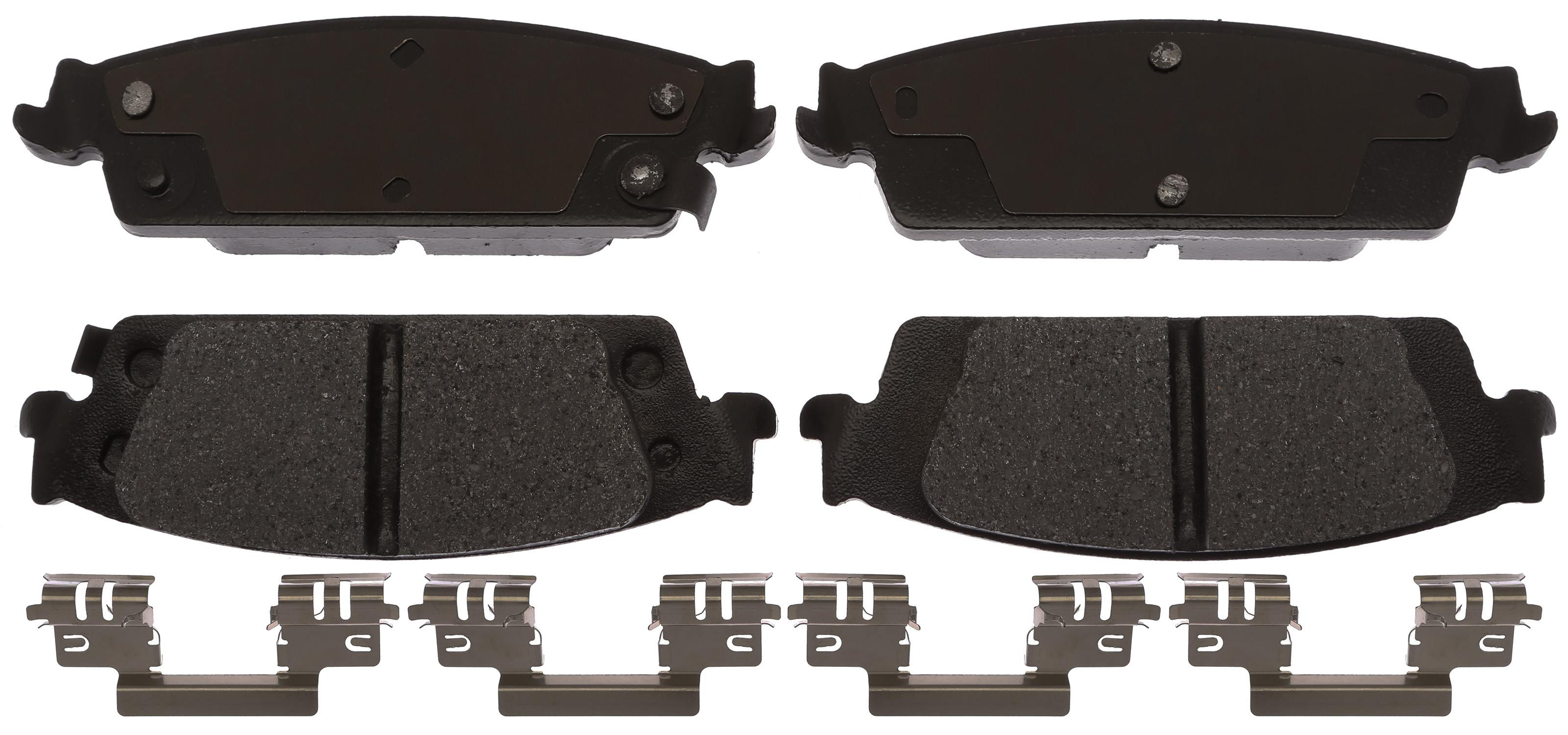ACDELCO SPECIALTY - Police Semi-Metallic Disc Brake Pad - DCE 17D1707MHPV