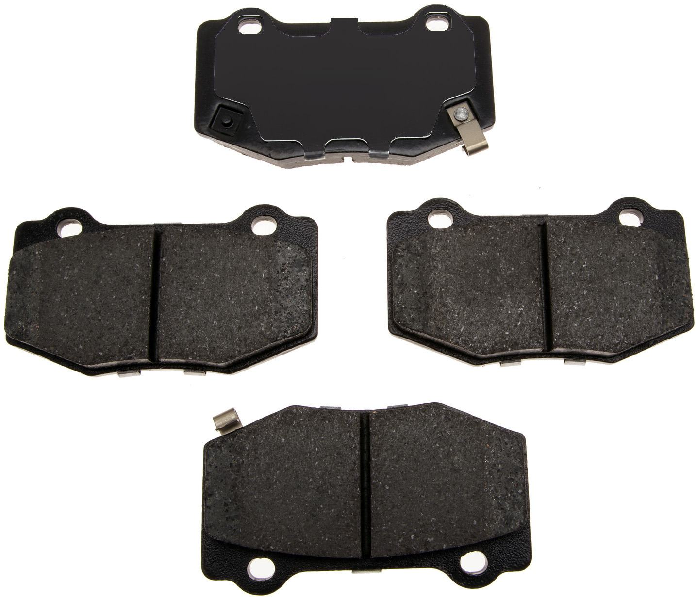 ACDELCO GOLD/PROFESSIONAL BRAKES - Ceramic Disc Brake Pad (Rear) - ADU 17D1718C