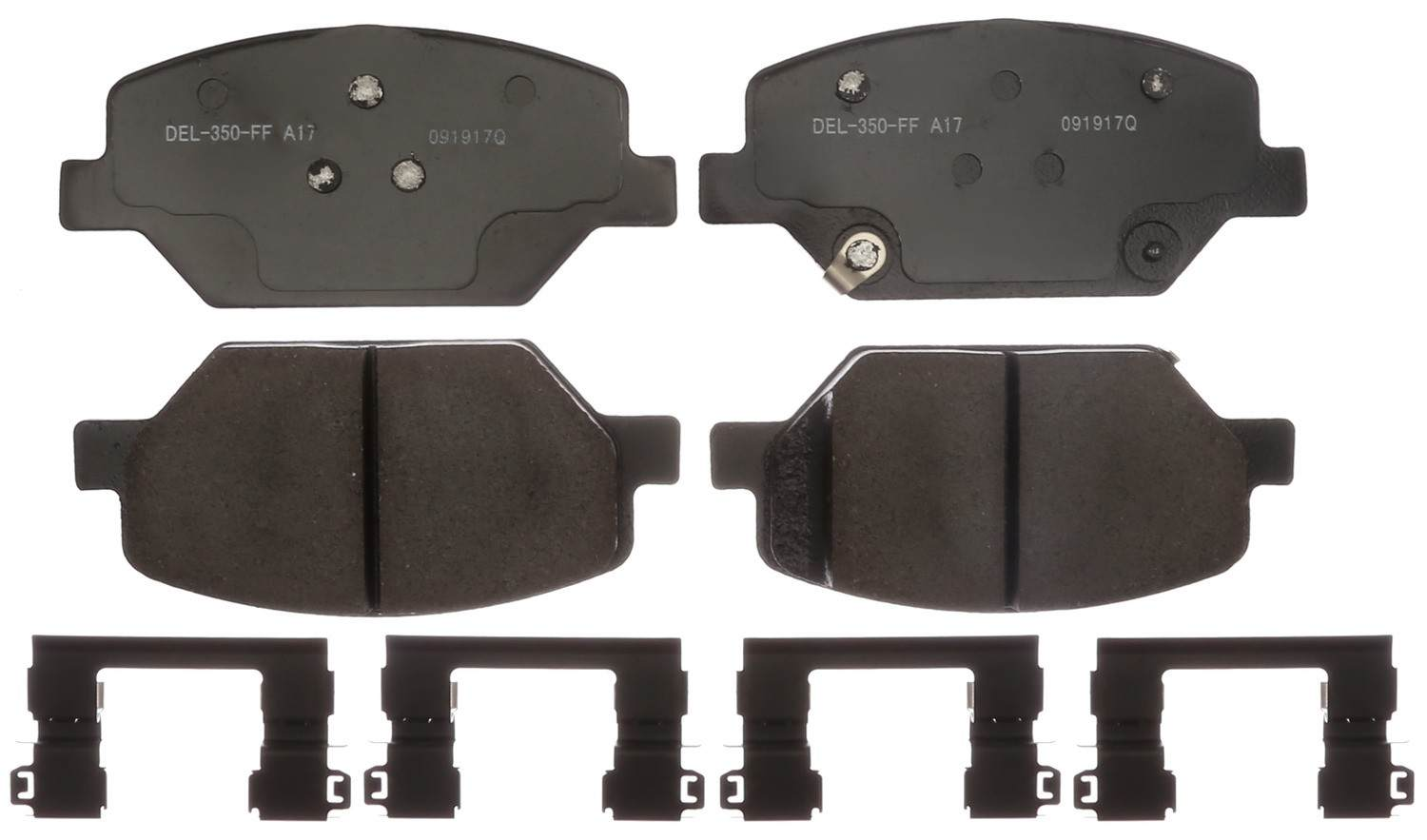 ACDELCO GOLD/PROFESSIONAL BRAKES - Ceramic Disc Brake Pad (Front) - ADU 17D1886CH