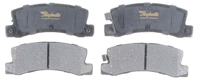 ACDELCO PROFESSIONAL BRAKES - Ceramic Disc Brake Pad (Rear) - ADU 17D325C