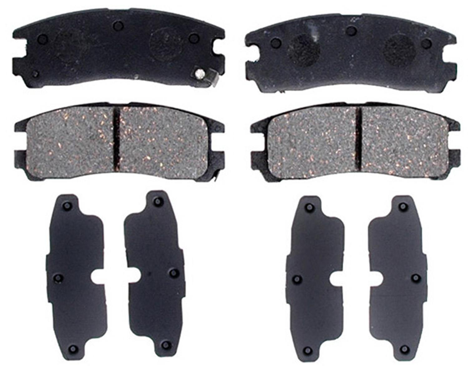 ACDELCO PROFESSIONAL BRAKES - Ceramic Disc Brake Pad (Rear) - ADU 17D383C