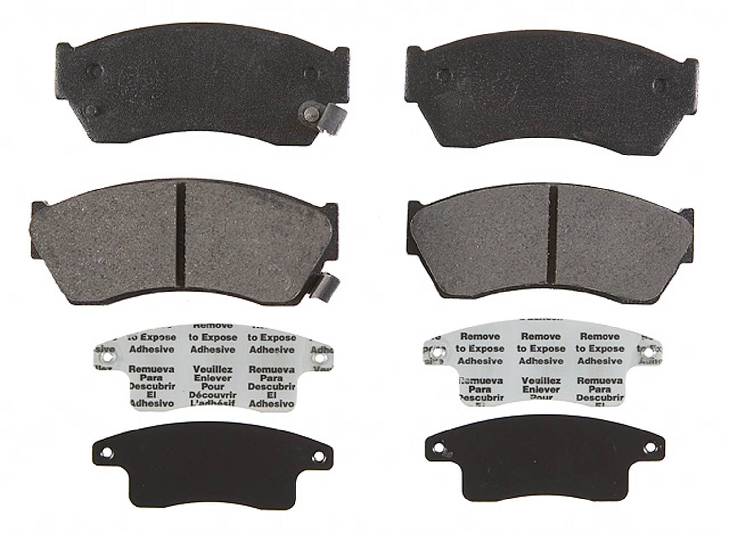 ACDELCO PROFESSIONAL BRAKES - Organic Disc Brake Pad (Front) - ADU 17D451